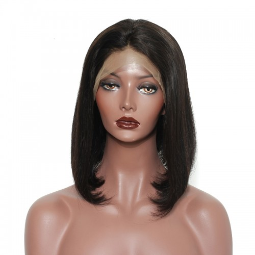 Invisilace Short Bob 360 Lace Front Human Hair Wigs 150% Density