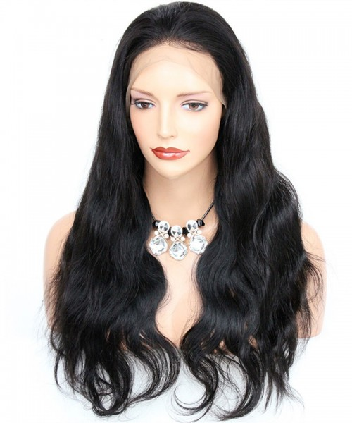 Invisilace Transparent Full Lace Wigs Human Hair Body Wave 200% Density