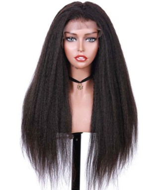 Invisilace Fake Scalp 13x6 Lace Front Wigs Kinky Straight 150% Density