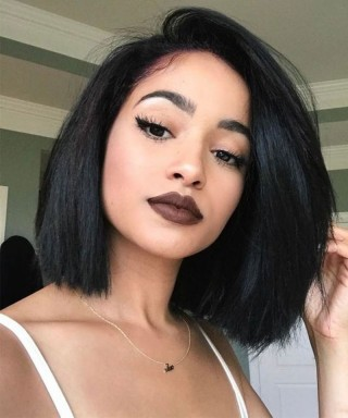 Invisilace Short Bob Lace Front Human Hair Wigs 200% Density Human Hair Wigs