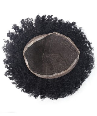 Invisilace Full French Lace Hair Replacement for Men Afro Waves Toupee