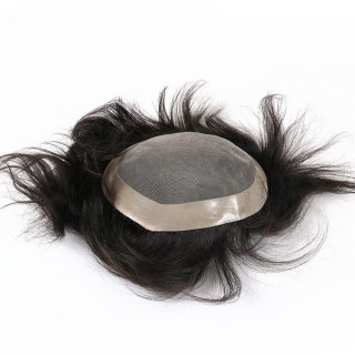 """Invisilace Mono Base Replacement 10""""x8"""" Human Hair Men Toupee For Bald"""