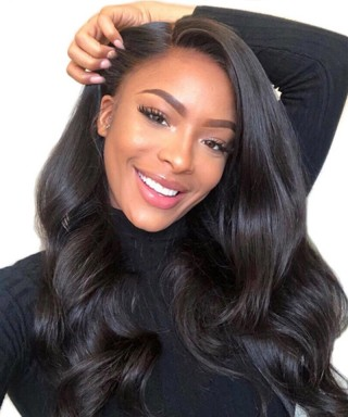 Invisilace 13x6 Lace Front Human Hair Wigs Body Wave 150% Density Transparent Lace Wig